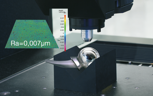 Alicona CMM measures RA 0,007µm
